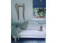 Shabby chic/vintage handpainted Chaise Lounge