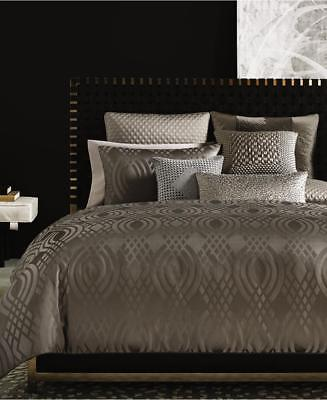 Duvet Cover Dimensions - Hotel Collection Dimensions Full Queen Duvet Cover Taupe Brown solid geometric