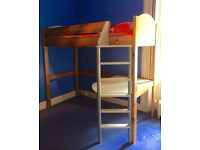 Bunk bed/desk suitable for 6-16 year old