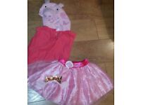 Peppa pig bundle costume 2-3 years