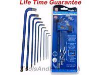 NEW - 9pc Extra Long Ball End Hex Key Set Long Reach Allen Keys Hex Keys 1.5 - 10mm