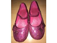 Girls pink sparkly shoes size 10 from TU
