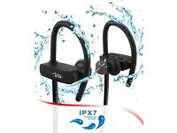 IYA MX-100 Wireless Sport Headphone - IPX7 Waterproof & Noise-cancelling