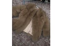 Brand new Arctic Fox fur coat size 10