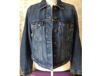 Women's Clothing Indigo Blue Denim Western Jacket Size 14 Petite BNWT