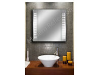 LED Bathroom Mirror Cabinet | Sensor | Shaver | Demister | 650x600x110mm