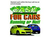 All scrap cars wanted