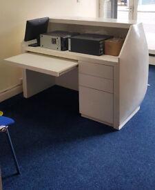 Cheap! Administrator's white desk / reception furniture!