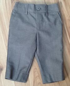 Next Signature 3-6Month Smart Light Grey Trousers