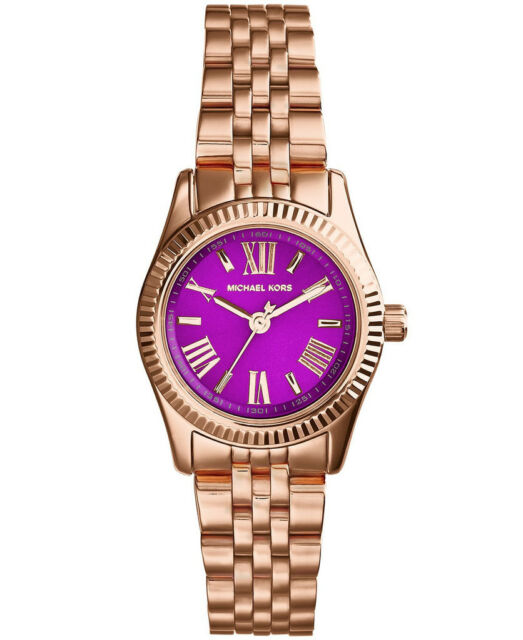 NEW MICHAEL KORS MK3273 LADIES PETITE LEXINGTON WATCH - 2 YEAR WARRANTY