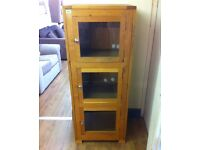 SOLID OAK - Wood and Glass Cabinet / Unit + FREE LOCAL DELIVERY