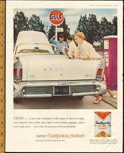 1958 large, full-page magazine ad for Gulf Oil