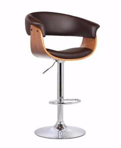 SALE-BRAND New - High end Designer, Bar and Counter Stools- Stainless Steel and Bentwood