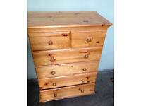 chest of drawer real pine wood