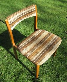 Vintage retro 60s 70s G Plan/Danish (poss?) dining chair - upcycle project