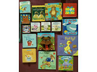Baby toddlers books 16 in total: small stories, flaps, hide-and-seek, soft animal etc