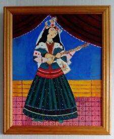 Original Persian Miniature in frame