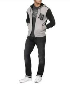 Mens luxury Armani Jeans Hooded Sweatshirt, RRP£265