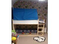 Kura IKEA bed and blue tent