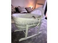 Brand New Grey Moses Basket