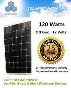 120W Watts Mono Solar Panel, Al Frame & Tempered Glass,12V RVs Boat,Grade A Cell