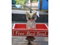 Rustic Wooden Bird Seed Shelve (x 4)