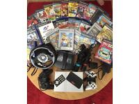 PlayStation 2 with accessories