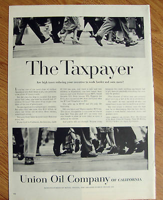 1957  Union Oil 76 Ad The Taxpayer