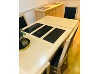 Quick sale required - excellent condition Table + 6 Chairs + Sideboard