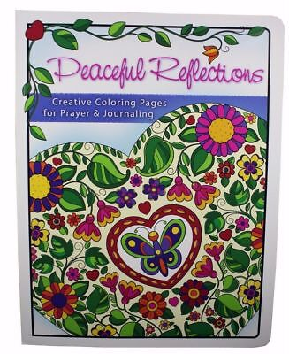 Peaceful Reflections Adult Coloring Book Journal God's Word Bible Verses NEW Bible Verses Gods Word