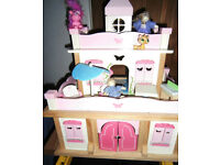 Very lovely Wooden Dolls House Unuseual Design