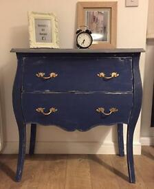 Unique retro/chic French style fully refurbished chest of drawers