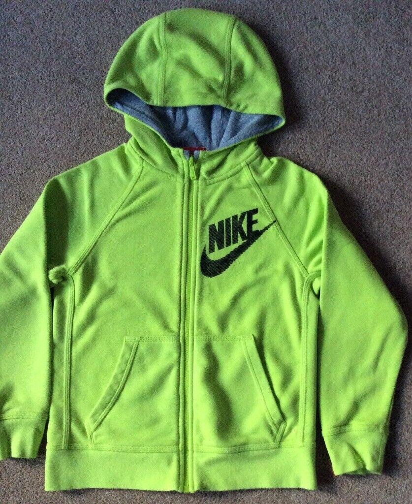 Nike Lime Green Full Zip Hoodie 8 - 10 Years - Never Worn