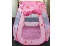 Pink Pop-Up Princess Castle Play Tent / Ball House - BRAND NEW
