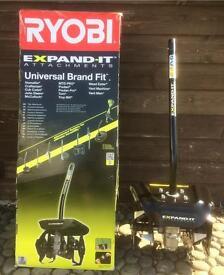 RYOBI EXPAND-IT AQTT03 TILLER ROTOVATOR ATTACHMENT BOXED
