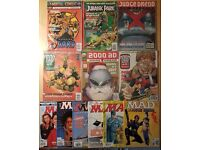 Collection of 90s comics - 12 in total, 2000 AD, Judge Dredd etc.