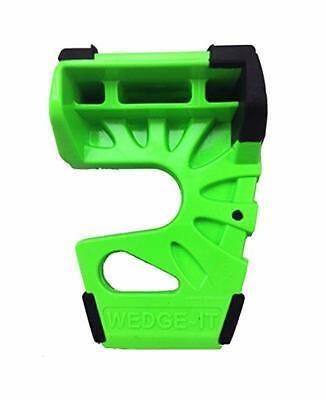 Wedge-It 3 in 1 Ultimate Door Stop Heavy Duty Lexan Plastic Rubber Shim (GREEN)
