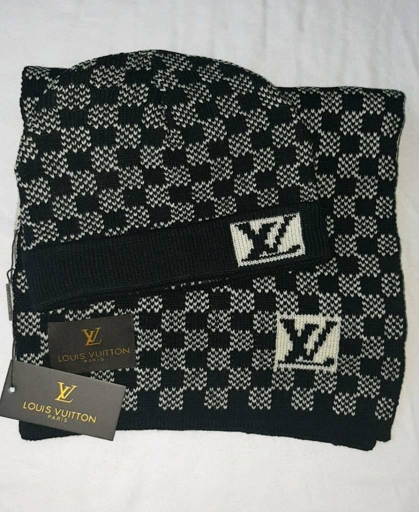 795acf5c5ab Louis Vuitton Hat   Scarf LV Set - Brand New