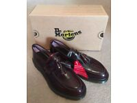 Dr Martens Classic Tassel Loafers Size 8 in colour Cherry Red Arcadia