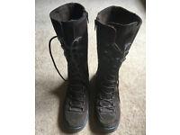 Ladies Geox Waterproof Brown Suede Knee High Boots - UK 6/EUR 39