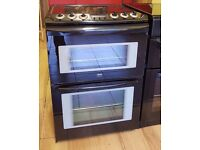 60cm Zanussi Ceramic Top Cooker, Double Oven Fan Assisted/ Grill - 6 Months Warranty