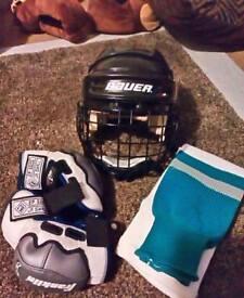 Kids ice hockey equipment