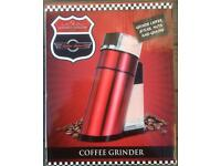 RETRO DINER COFFEE GRINDER 50's STYLE GRIND SPICES NUTS BRAND NEW IN BOX