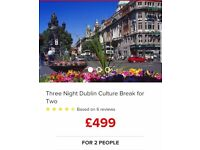 3 night Dublin culture break for 2.