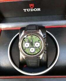 Mens Tudor 'Fastrider' chronograph watch in new condition.