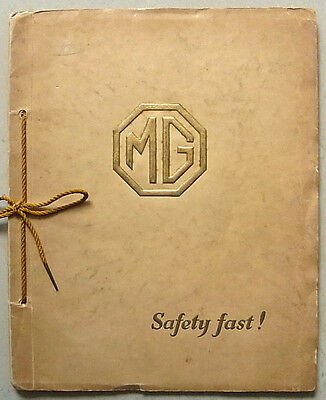 MG CAR RANGE For 1928 Sales Brochure Connolly Artwork  8/33 Midget   18/80 SIX