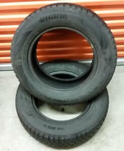 (ZH34) 2 Pneus Hiver - 2 Winter Tires 225-65-16 Hankook 7/32