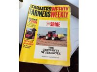 Vintage Farmers Weekly magazines