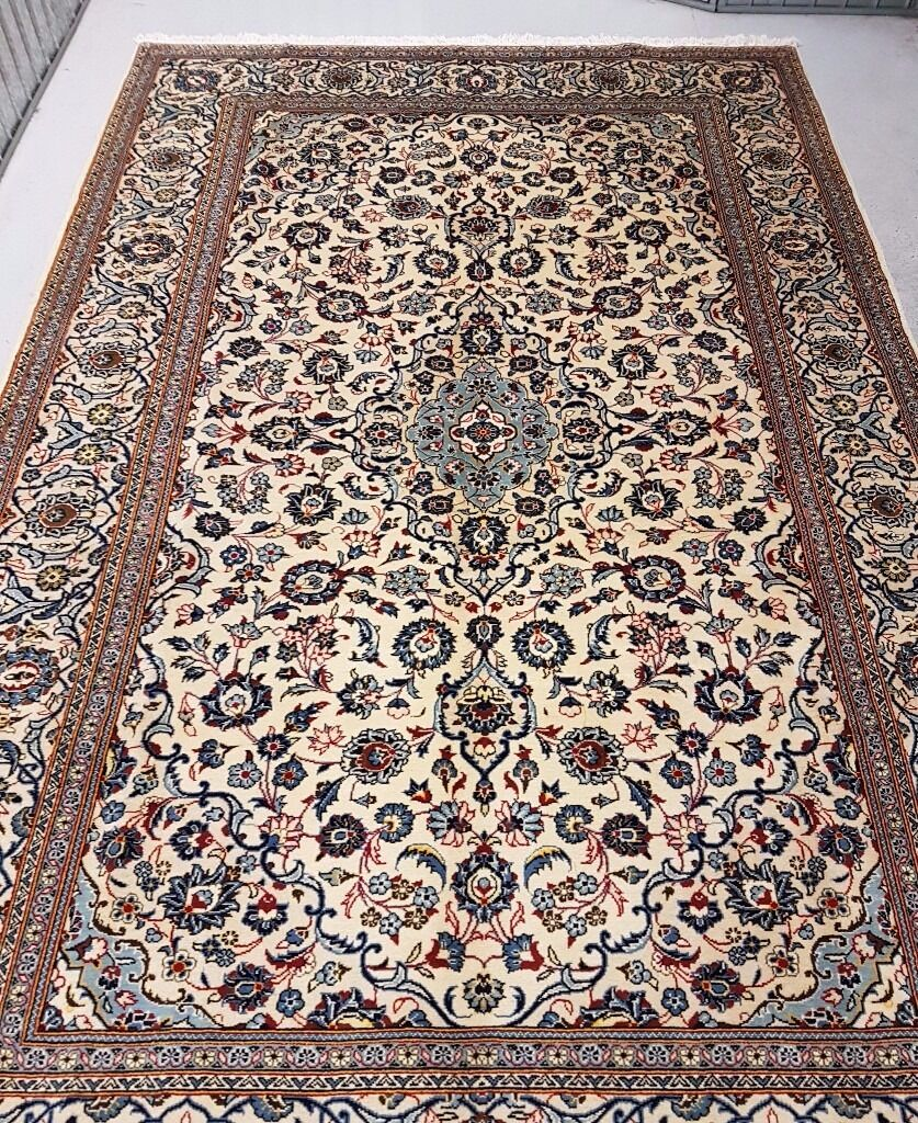 Full Room Size Royal Clic Hand Woven Persian Kashan Rug Carpet 325x203 Cm
