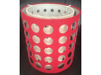 RED CYLINDER LIGHTSHADE